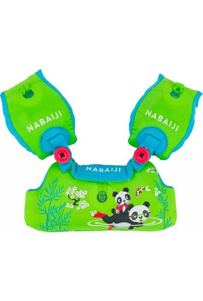 Nabaiji Panda Baskılı Çocuk Şişme Kolluk Yelek Can Yeleği 15 - 30 kg