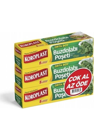 Koroplast Buzdolabı Poşeti 3'lü Orta Boy 20'li