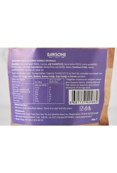 Rawsome Turna Yemişi & Fındıklı Granola Glutensiz 250 gr