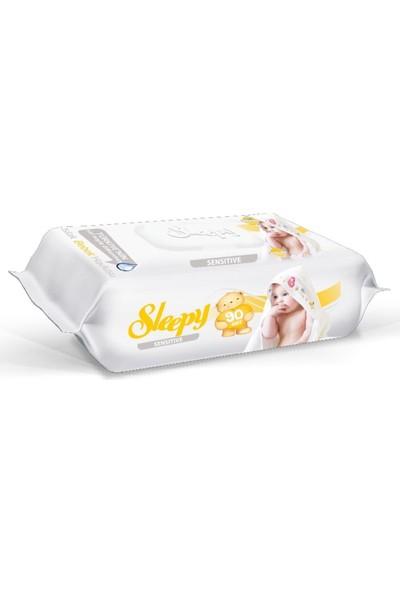 Sleepy Sensitive Kapaklı Islak Havlu 90 Lı