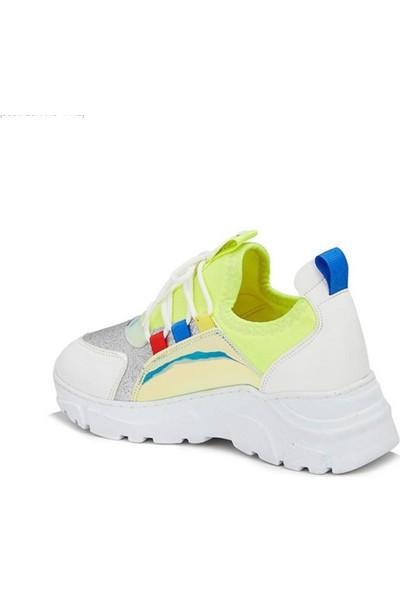 Vicco Verona Spor Ayakkabı Beyaz Sarı
