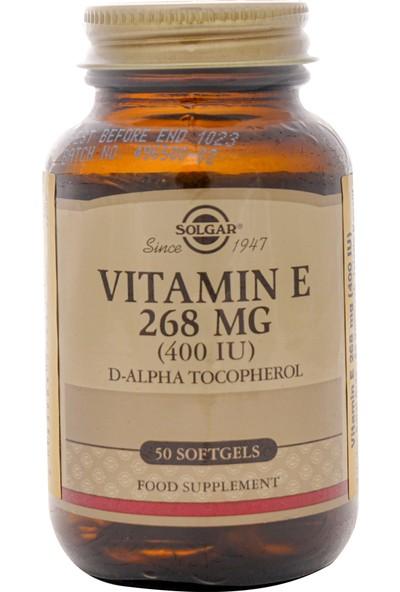Solgar Vitamin E 400 IU 268 Mg 50 Kapsül