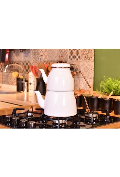 Tasev Miray Çaydanlık Takımı Beyaz