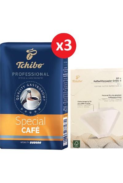 Tchibo Profesional Special Filtre Kahve 3'lü 250 gr + Tchibo Filtre Kağıdı 1/4 80 li