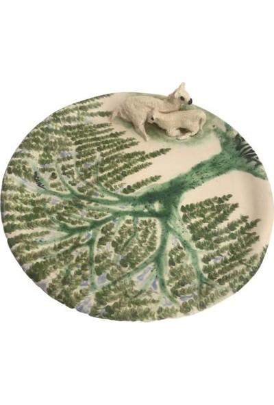 Alla Ceramics Salkım Söğüt Altında Kuzu ve Koyun