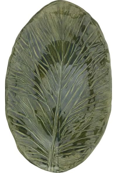 Alla Ceramics Düz Büyük Yaprak Büyük Servis Tabağı