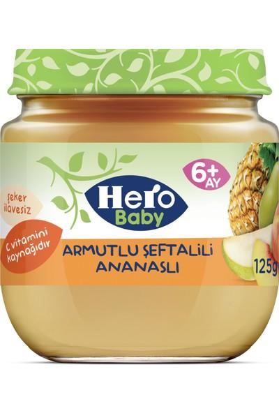 Hero Baby Armut Şeftali ve Ananas Püreli Kavanoz Mama 125g