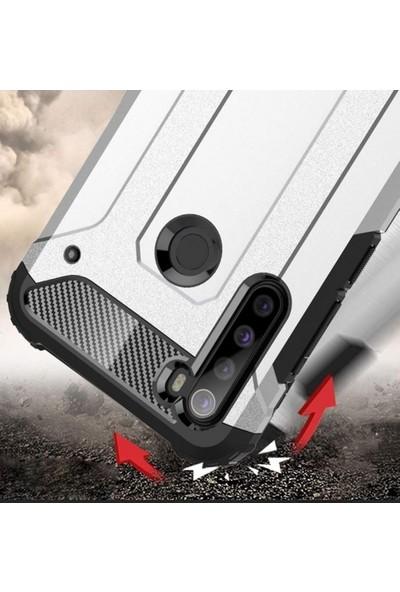 Kılıfplus Realme 5i Kılıf Double Solid Armor Serisi Zırhlı Kapak - Kırmızı