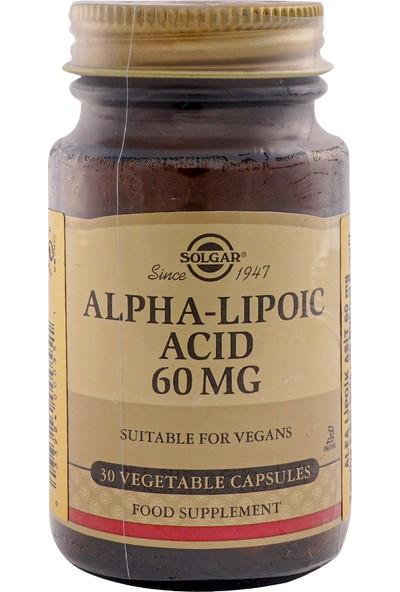 Solgar Alpha Lipoic Acid 60 Mg 30 Tablet