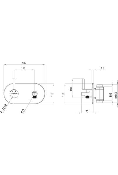 Teska Alia Sıcak Soğuk Taharetmatik Batarya Takımı-Oval