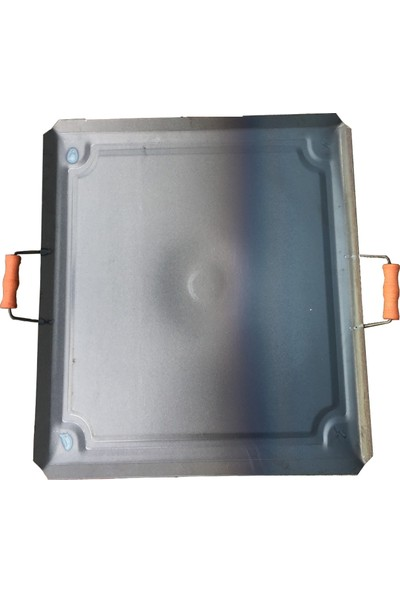 Filtar Metal Ocak Üstü Kare Sac 1,5 mm Kanallı Bombeli Model + Spatula ve Çevirgeç