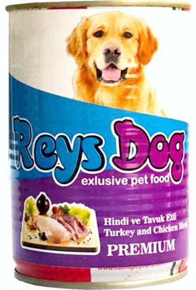 Reys Dog Hindi Etli 415 gr Konserve Köpek Maması- 24'lü
