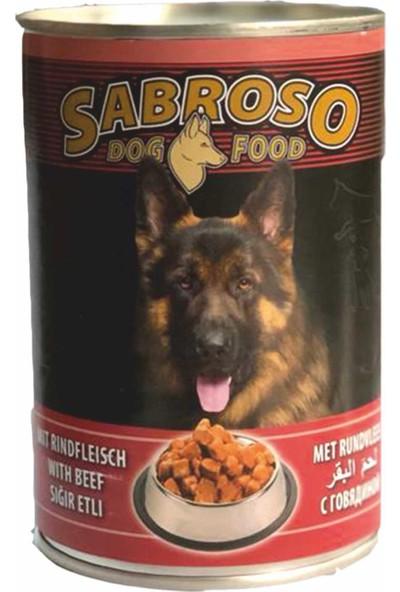 Sabroso Sığır Etli Köpek Maması Konserve 415 Gr- 24'lü