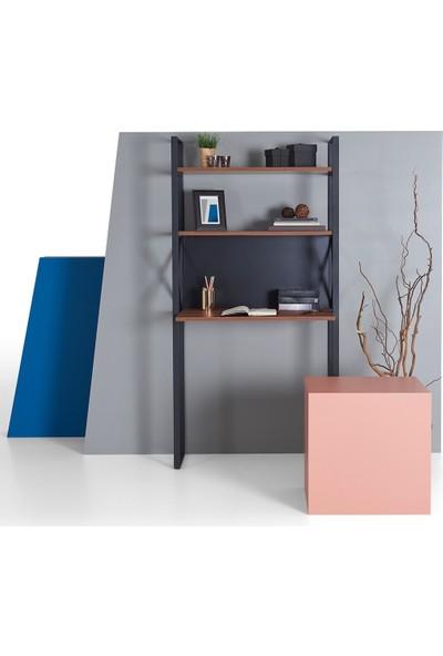 Ruum Store By Doğtaş Meta Çalışma Masası Kitaplık Ceviz Antrasit