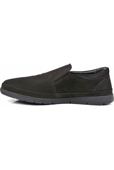 Mcp M-63105 Deri Siyah- Süet Günlük Ayakkabı