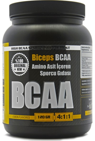 Biceps Bcaa Limon Aromalı 120 gr 24 Servis