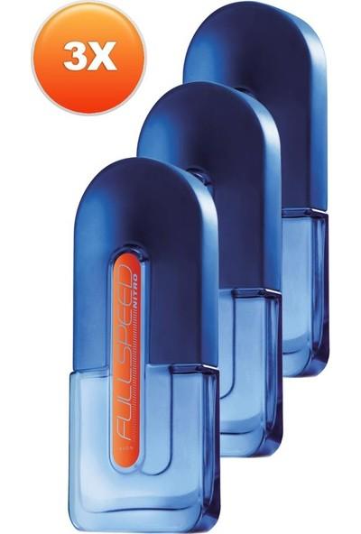 Avon Full Speed Nitro Erkek Parfüm Edt 75 Ml. Üçlü Set