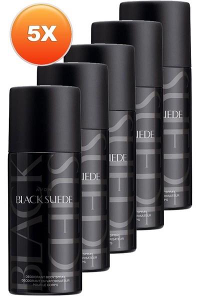 Avon Black Suede Erkek Deodorant 150 Ml. Beşli Set
