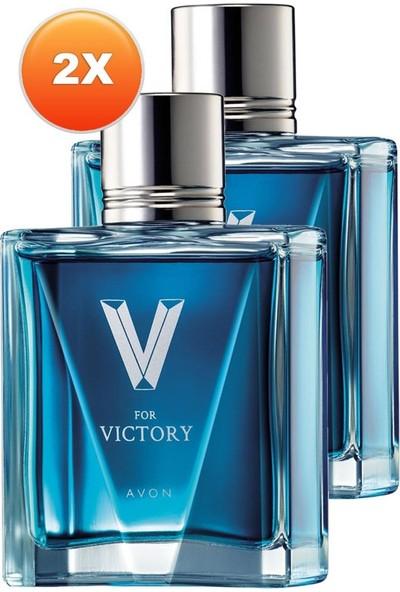 Avon V For Victory Erkek Parfüm Edt. 75 Ml. Ikili Set