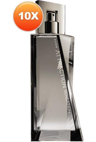 Avon Attraction Sensation Erkek Parfüm Edt 75 Ml. Onlu Set