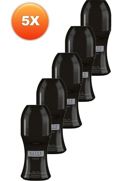 Avon Elite Gentleman In Black Erkek Rollon 50 Ml. Beşli Set