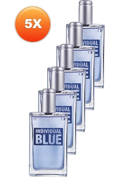 Avon Individual Blue Erkek Parfüm Edt 100 Ml. Beşli Set