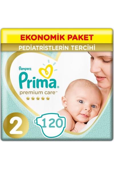 Prima Premium Care 2 Beden Numara 60 x 2 - 120 Adet Bebek Bezi