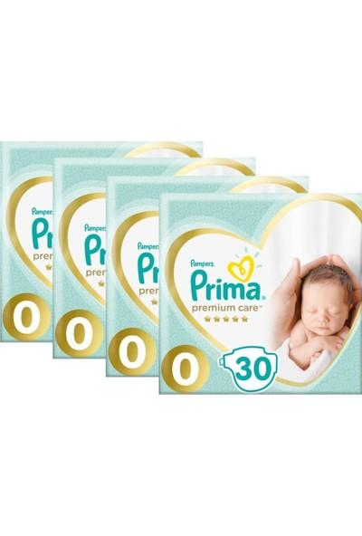 Prima Premium Care Prematüre Bebek Bezi 0 Beden 30 x 4'lü 0 - 3 kg 120'lı