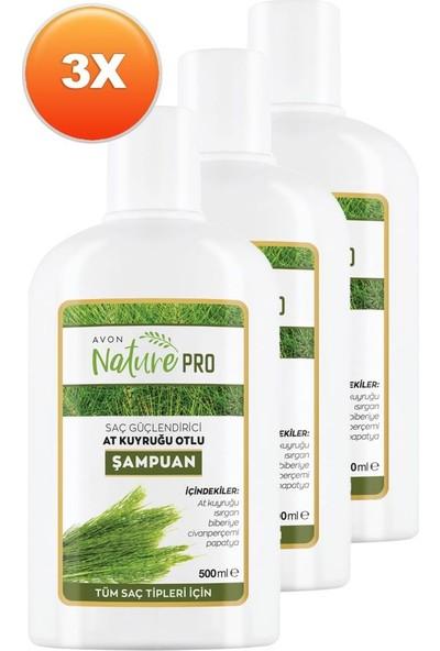 Avon Nature Pro At Kuyruğu Otlu Şampuan 500 ml 3'lü Set