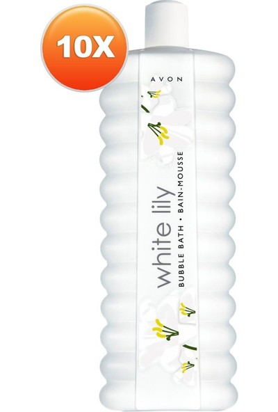 Avon White Lily Zambak Banyo Köpüğü 500 ml 10'lu Set
