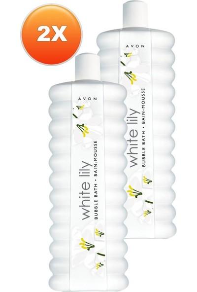 Avon White Lily Zambak Banyo Köpüğü 500 ml 2'li Set