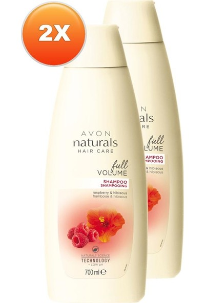 Avon Böğürtlen ve Hibisküs Özlü Şampuan 700 ml 2'li Set