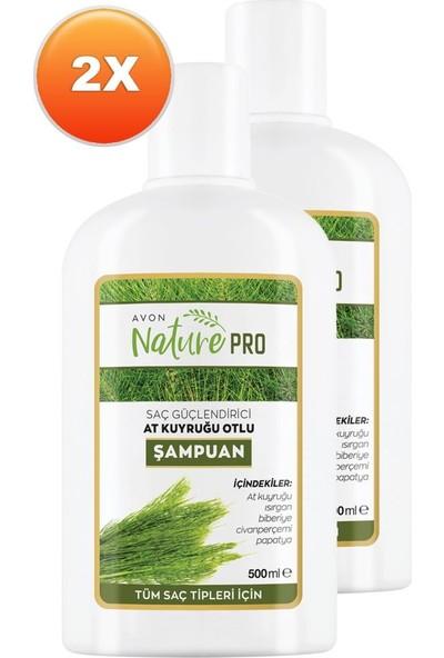 Avon Nature Pro At Kuyruğu Otlu Şampuan 500 ml 2'li Set