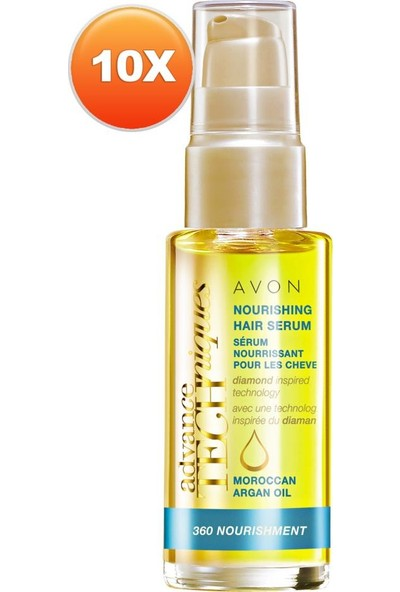 Avon Fas Argan Yağı Besleyici Saç Serumu 30 ml 10'lu Set
