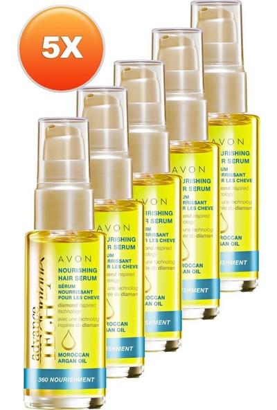 Avon Fas Argan Yağı Besleyici Saç Serumu 30 ml 5'li Set