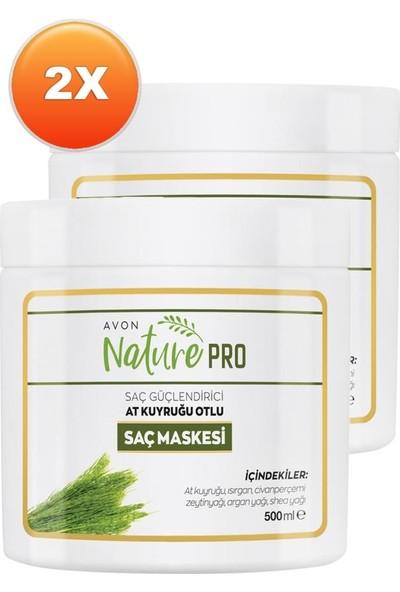 Avon Nature Pro At Kuyruğu Otlu Saç Maskesi 500 ml 2'li Set