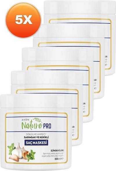 Avon Nature Pro Sarımsak ve Kekikli Saç Maskesi 500 ml 5'li Set