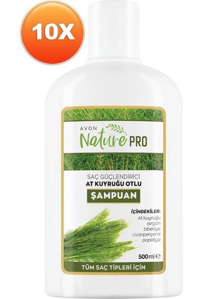 Avon Nature Pro At Kuyruğu Otlu Şampuan 500 ml 10'lu Set