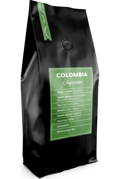 A Roasting Lab Colombia Supremo 250 gr Çekirdek