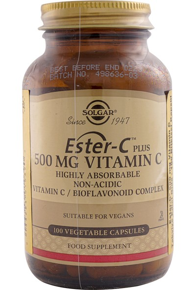 Solgar Ester-C Plus 500 Mg 100 Kapsül