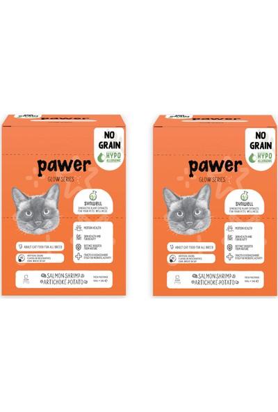 Pawer Glow Tahılsız Hipoalerjenik Somonlu, Karidesli ve Enginarlı Yetişkin Kedi Maması 6 Kg (2 adet 3 kg)