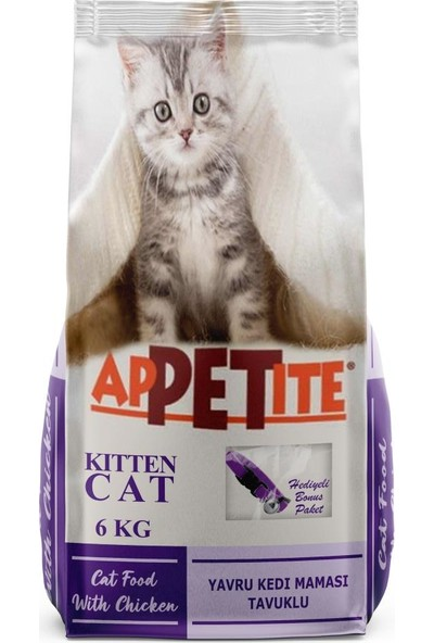 Appetite Kitten Chicken Tavuklu Yavru Kedi Maması 6 kg