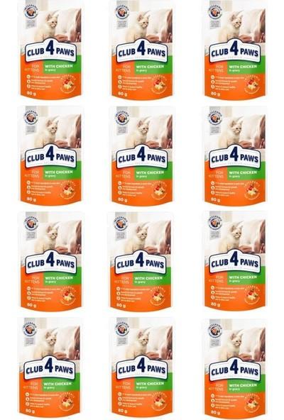 CLUB4PAWS Premium Pouch Yavru Kedi Konservesi 80 gr x 12 Adet