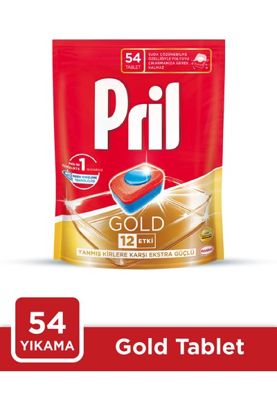 Pril Gold 54 Yıkama Bulaşık Makinesi Deterjanı Kapsülü