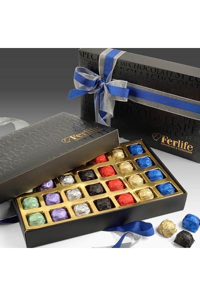 Ferlife Siyah Inci Çikolata Kutusu