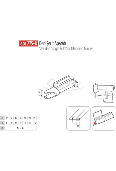 BDR Deri Şerit Apara 16X8MM / Apr 275-D