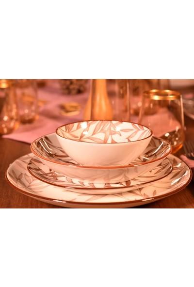 Bambum Fondo 24 Parça Porselen Yemek Takımı Kahve