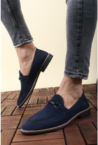 Oksit Zili Tokalı Erkek Ayakkabı