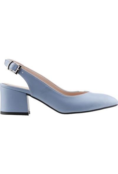 Ayakland 97544-307 5 Cm Topuk Kadın Cilt Sandalet Ayakkabı
