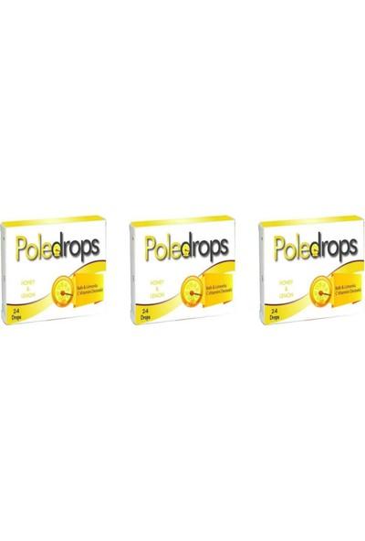 Deniz Pharma Poledrops Ballı Limonlu Pastil 24 Adet 3 Kutu